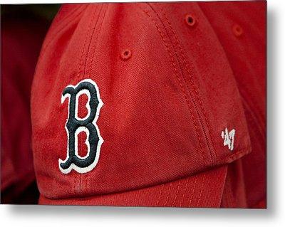 Boston Red Sox Baseball Cap Metal Print