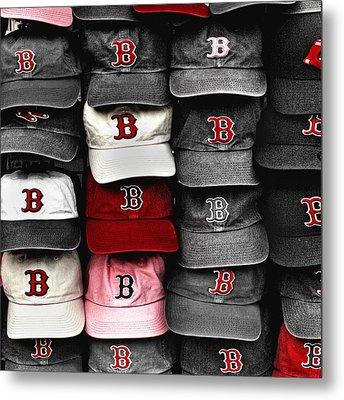 Boston Red Sox Caps Metal Print by Joann Vitali