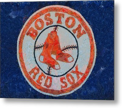 Boston Red Sox Metal Print by Dan Sproul