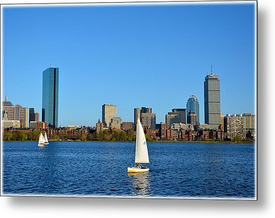 Metal Print featuring the photograph Boston Skyline Back Bay View by Amanda Vouglas