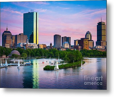 Boston Skyline Metal Print by Inge Johnsson