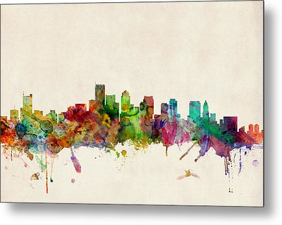 Boston Skyline Metal Print by Michael Tompsett