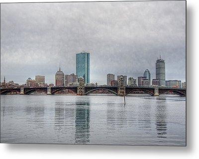Boston Skyline On A Grey Day Metal Print by Joann Vitali