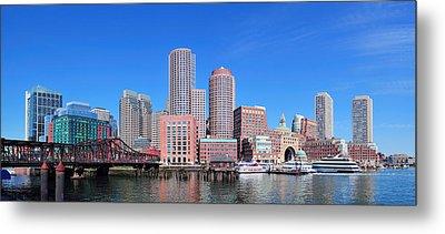 Boston Skyline Over Water Metal Print