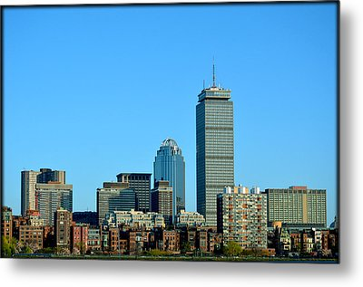 Metal Print featuring the photograph Boston Skyline Prudential Tower by Amanda Vouglas