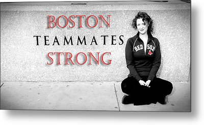 Boston Strong Metal Print by Greg Fortier