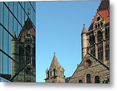 Boston Unity Reflected 2853 Metal Print by Guy Whiteley