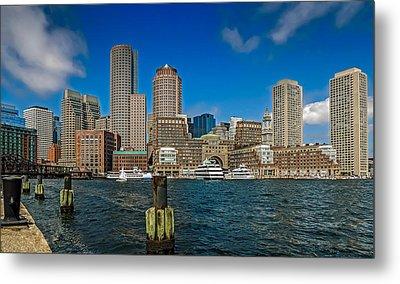Boston Waterfront Skyline Metal Print