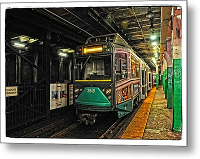 Boston's Mbta Green Line Metal Print by Mike Martin