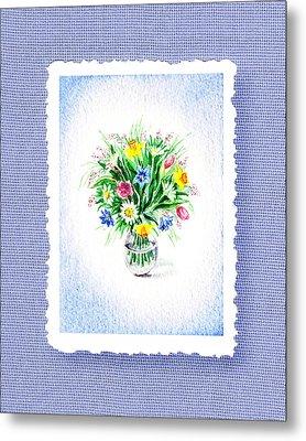Botanical Impressionism The Burst Of Flowers  Metal Print by Irina Sztukowski