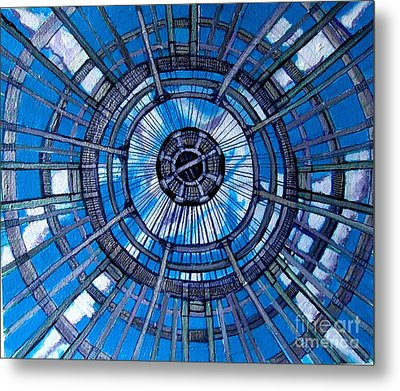 Botanical Looking Up Metal Print by Grace Liberator