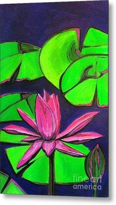 Botanical Lotus 1 Metal Print