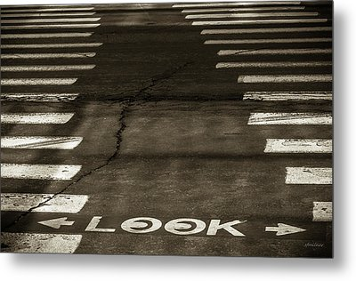 Metal Print featuring the photograph Both Ways - Urban Abstracts by Steven Milner