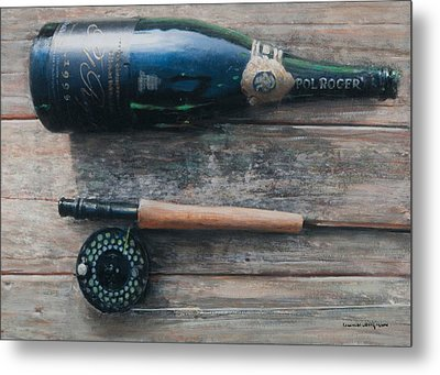 Bottle And Rod I Metal Print