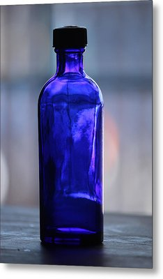 Metal Print featuring the photograph Bottle Blue by Rowana Ray