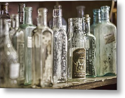 Bottle Collection Metal Print by Heather Applegate
