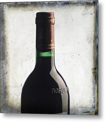 Bottle Of Bordeaux Metal Print by Bernard Jaubert