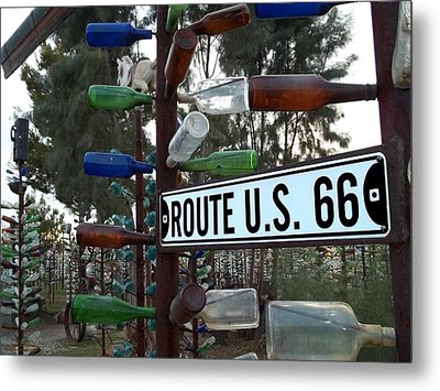 Bottle Trees Route 66 Metal Print