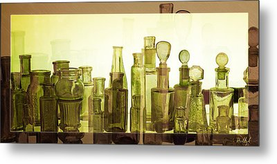 Bottled Light Metal Print by Holly Kempe