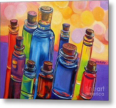 Bottled Rainbow Metal Print by Julie Brugh Riffey