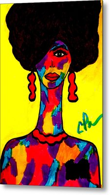Metal Print featuring the drawing Bottlenecked Diva by Chrissy Pena