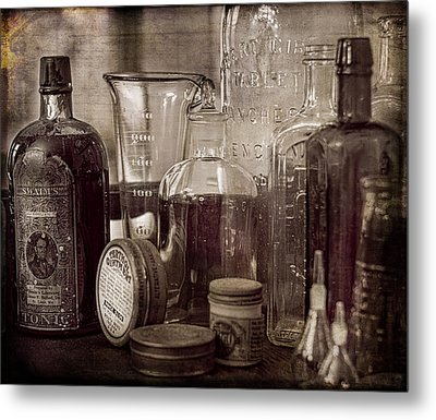 Bottles And Tins Metal Print by Wayne Meyer