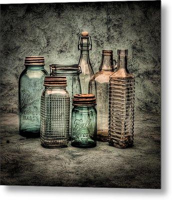 Bottles II Metal Print by Timothy Bischoff