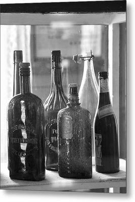 Metal Print featuring the photograph Bottles Of Bodie by Jim Snyder