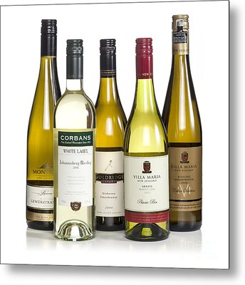 Bottles Of New Zealand Wine Metal Print by Colin and Linda McKie