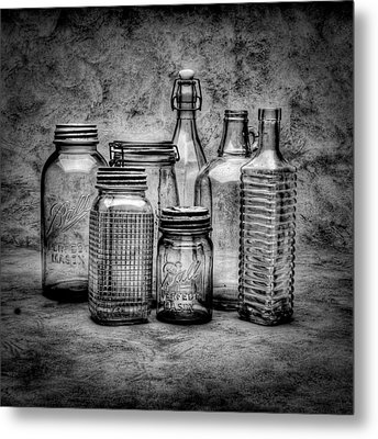 Bottles Metal Print by Timothy Bischoff