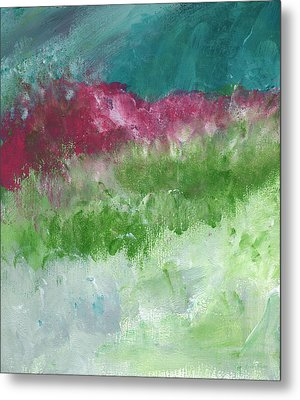 Bougainvillea- Contemporary Impressionist Painting Metal Print by Linda Woods