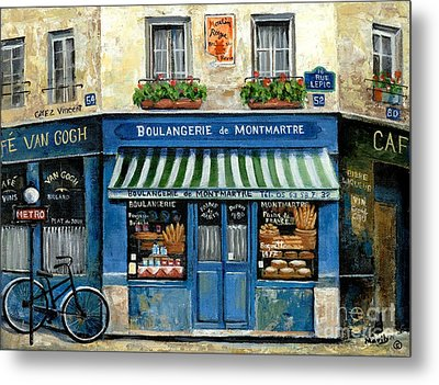 Boulangerie De Montmartre Metal Print by Marilyn Dunlap