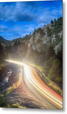 Boulder Canyon Neon Light  Metal Print by James BO  Insogna