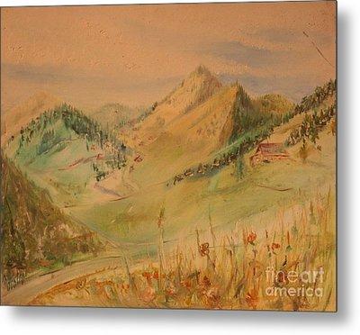 Boulder Colorado Painting Metal Print