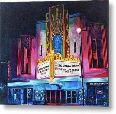 Boulder Theater Metal Print by Tom Roderick