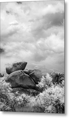 Boulders In Another Light Metal Print by Michael McGowan