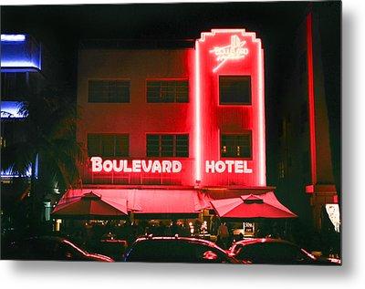 Boulevard Hotel Metal Print by Gary Dean Mercer Clark