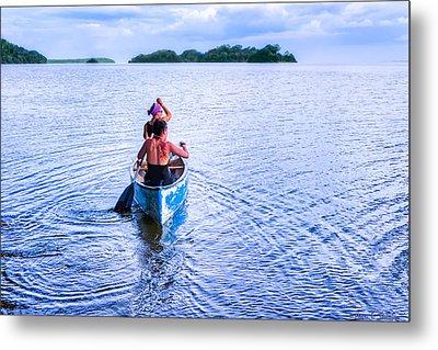 Bound For New Adventures - Lake Nicaragua Metal Print