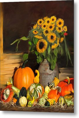 Bountiful Harvest - Floral Painting Metal Print