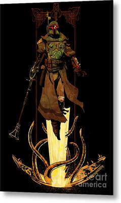 Bounty Hunter Rising Metal Print by Brian Kesinger