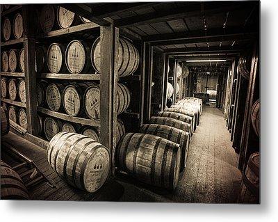Bourbon Barrels Metal Print by Karen Varnas