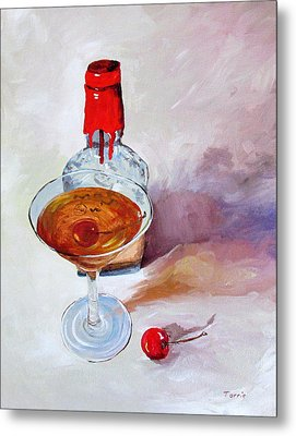 Bourbon Manhattan Metal Print by Torrie Smiley