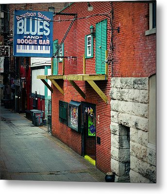 Bourbon Street Blues Metal Print by Linda Unger