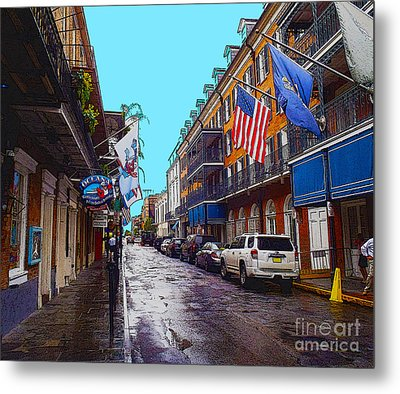 Bourbon Street Metal Print by Carey Chen