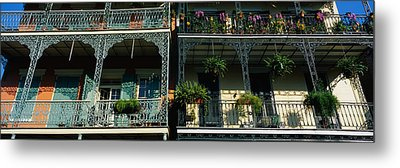 Bourbon Street New Orleans La Metal Print by Panoramic Images