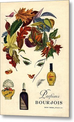 Bourjois 1940s Usa Womens Metal Print by The Advertising Archives