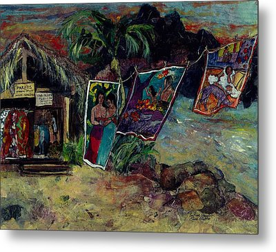 Boutique Gauguin Metal Print by Elaine Elliott
