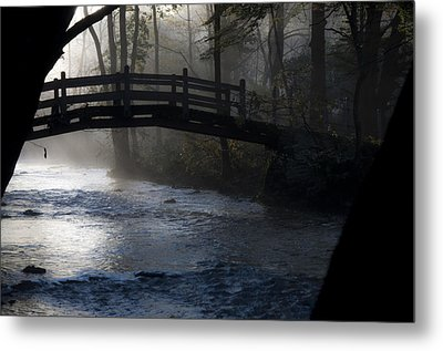 Bow Bridge At Valley Forge Metal Print by Bill Cannon