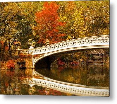 Metal Print featuring the photograph Bow Bridge Beauty by Jessica Jenney