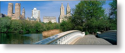 Bow Bridge, Central Park, Nyc, New York Metal Print by Panoramic Images